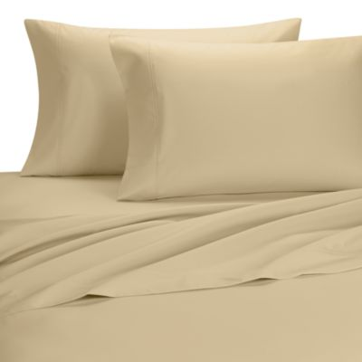 Palais Royale™ 630 Thread Count Standard Pillowcases in Honey (Set of 2)