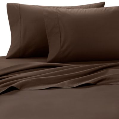 Palais Royale™ 630 Thread Count Standard Pillowcases in Brown (Set of 2)