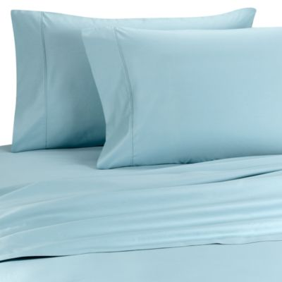 Palais Royale™ 630 Thread Count Standard Pillowcases in Light Blue (Set of 2)