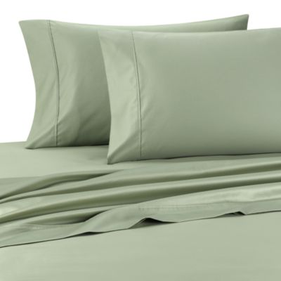Palais Royale™ 630 Thread Count Standard Pillowcases in Sage (Set of 2)