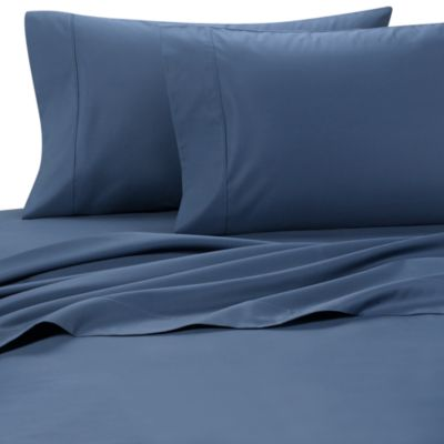 Palais Royale™ 630 Thread Count Queen Sheet Set in Ocean Blue