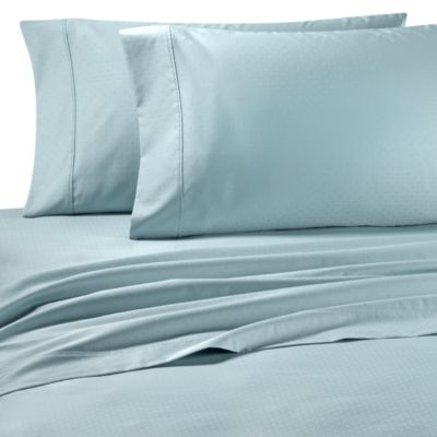 Palais Royale™ 630 Dot King Sheet Set in Light Blue Dot
