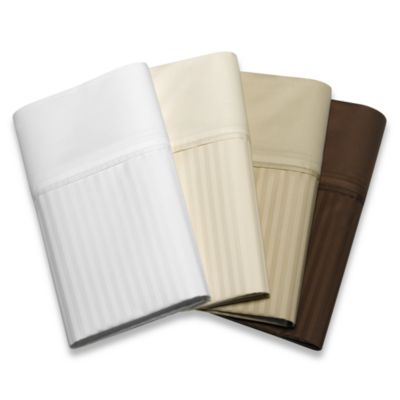 Palais Royale™ 630 Stripe King Sheet Set in Brown Stripe