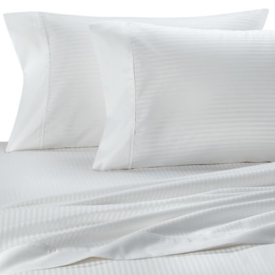 Palais Royale™ 630 Stripe King Sheet Set in White Stripe