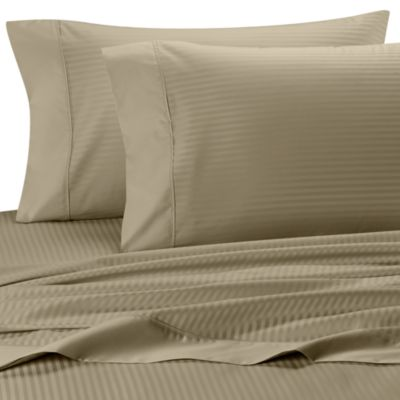 Palais Royale™ 630 Stripe King Sheet Set in Canvas Stripe
