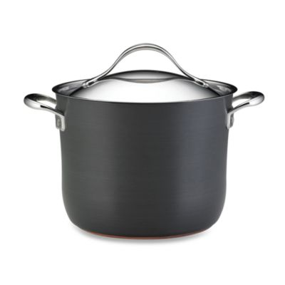 Anolon® Nouvelle Copper 8-Quart Covered Stock Pot