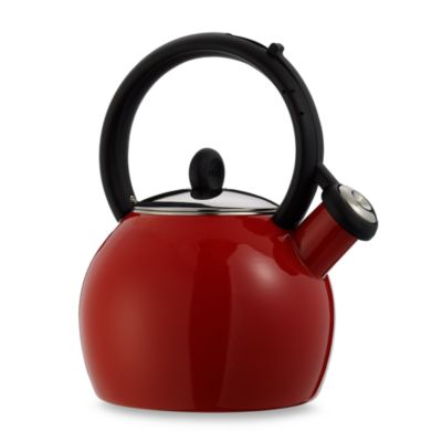 Copco® Vienna Red Porcelain Enamel Tea Kettle