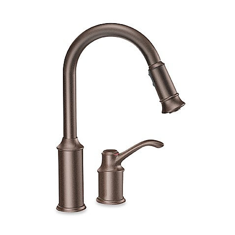 Moen® Aberdeen™ Pull Out One-Handle Kitchen Faucet in Oil Rubbed Bronze