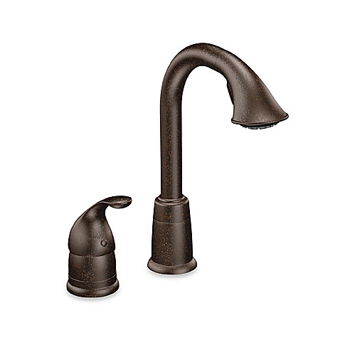 Moen® Camerist™ Pull Out Bar One-Handle Kitchen Faucet in Oil Rubbed Bronze