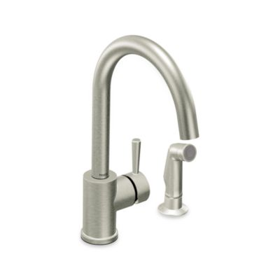 Moen® Level™ One-Handle Kitchen Faucet with Side Spray in Stainless Steel