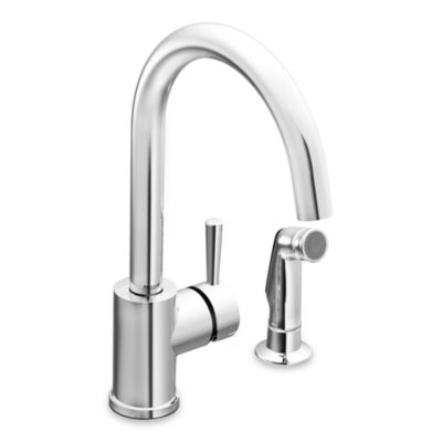 Moen® Level™ One-Handle Kitchen Faucet with Side Spray in Chrome