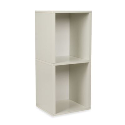 Way Basics Tool-Free 2 Shelf Bookcase and Storage in White