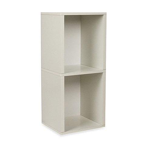 way basics tool free 2 shelf bookcase and storage in white. Black Bedroom Furniture Sets. Home Design Ideas