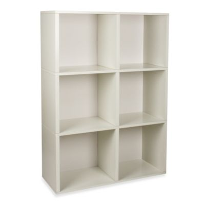Way Basics Tool-Free 3 Shelf Tribeca Bookcase and Storage in White