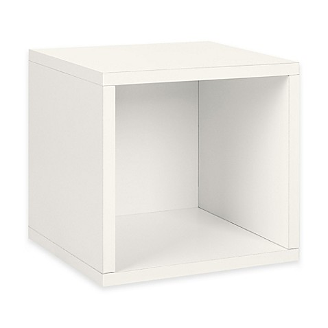 Way Basics Tool-Free Storage Cube in White