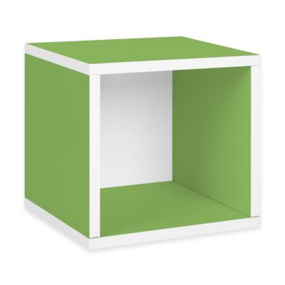 Way Basics Tool-Free Storage Cube in Apple Green