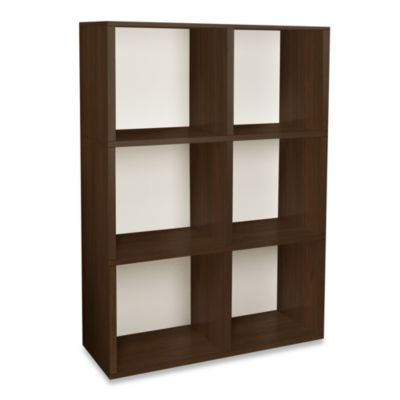 Way Basics Tool-Free 3 Shelf Tribeca Bookcase and Storage in Espresso