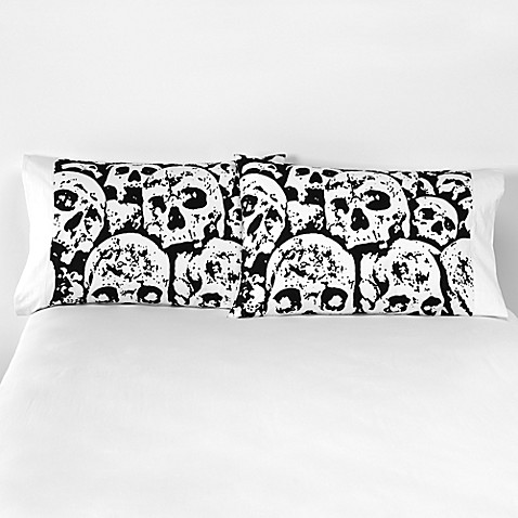 Snooze City Designs Printed Designer Standard Pillowcase (Set of 2) - Graveyard