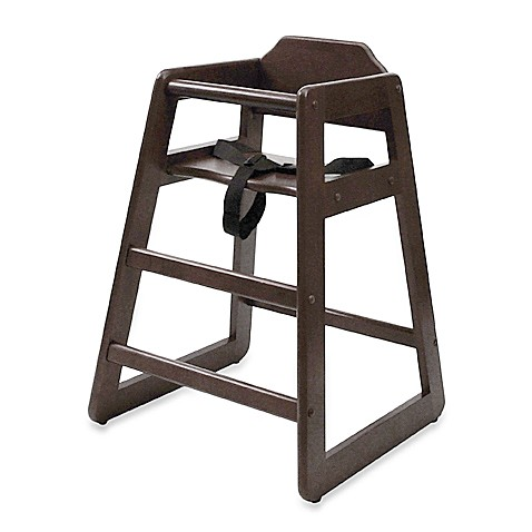 Lipper Wood High Chair - Espresso