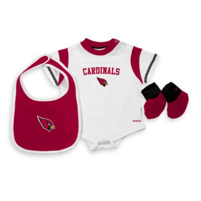 NFL Arizona Cardinals Size 6 - 9 Months Three-Piece Creeper, Bib and Booties Set