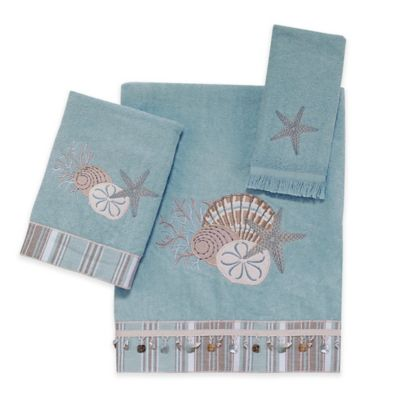 Avanti By The Sea Fingertip Towel in Mineral