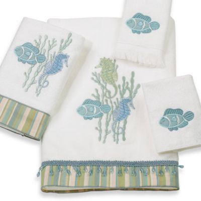 Avanti Reef Life Hand Towel in White