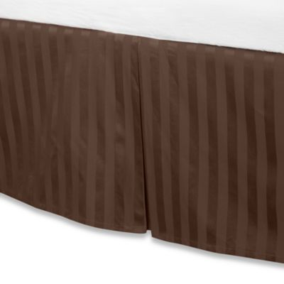 Wamsutta® 500 Damask Queen Bed Skirt in Chocolate