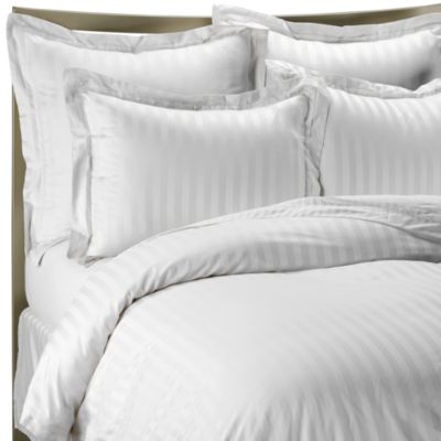 Wamsutta® 500 Damask White Duvet Cover Set
