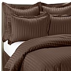 Wamsutta® 500 Damask Duvet Cover Set in Chocolate