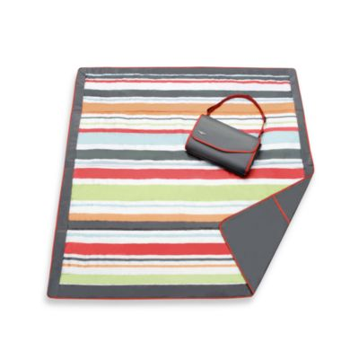 JJ Cole® 5-Foot x 5-Foot All-Purpose Outdoor Blanket in Grey/Red Stripe