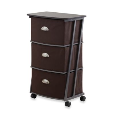 Brown Z 3-Drawer Cart