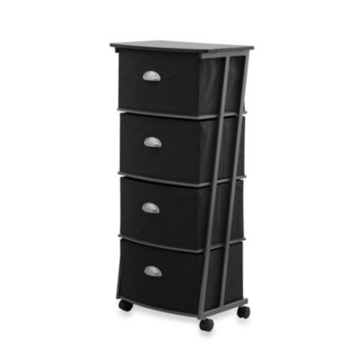 Black 4 Drawer Cart