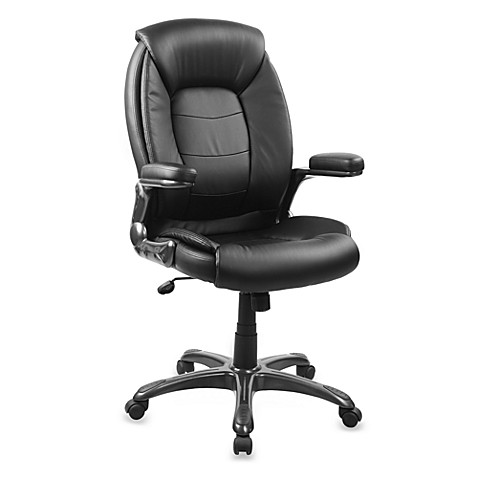 Buy Faux Leather High Back Chair In Black From Bed Bath Beyond