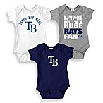 MLB Tampa Bay Rays Blue Bodysuits (Set of 3)