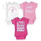 MLB Cleveland Indians Pink Bodysuits (Set of 3)