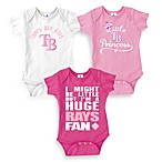 MLB Tampa Bay Rays Pink Bodysuits (Set of 3)