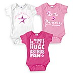 MLB Houston Astros Pink Bodysuits (Set of 3)