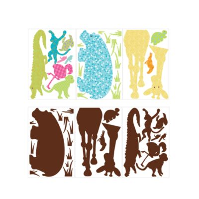 RoomMates Animal Silhouette Peel & Stick Applique in Multi-Colored
