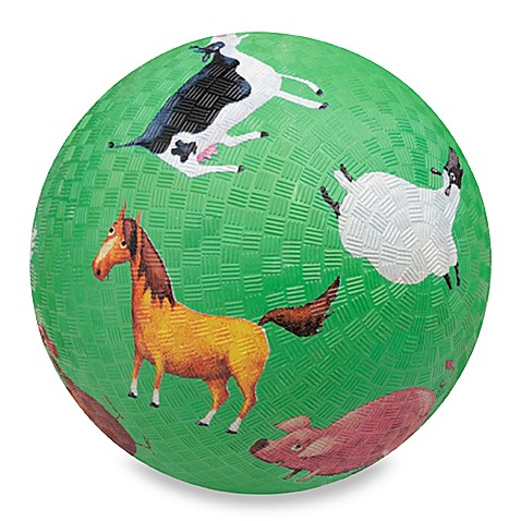 Crocodile Creek 5-Inch Barnyard Sounds Playground Ball