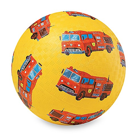 Crocodile Creek 7-Inch Fire Truck Playground Ball