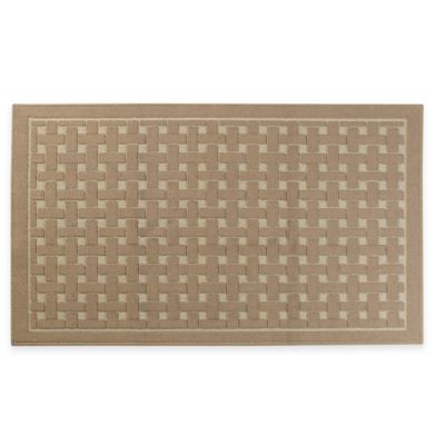 Basketweave Accent Rug