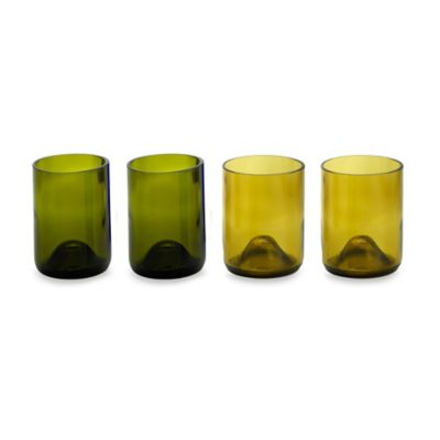Oenophilia Greenophile™ 8-Ounce Wine Bottle Tumblers (Set of 4)
