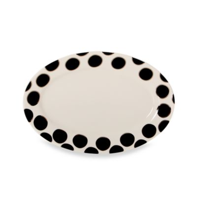 Cru Intl by Darbie Angell Black Pearl 14-Inch Oval Platter