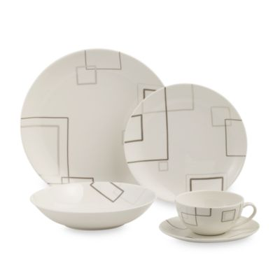 Mikasa® Geometric Square 5-Piece Place Setting