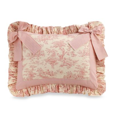 Madison Toile Pillow Sham with Bow