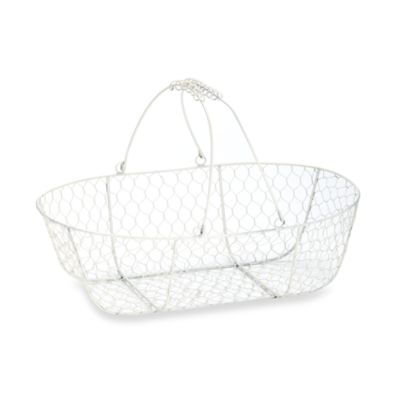 Glenna Jean Madison Wire Storage Basket in White