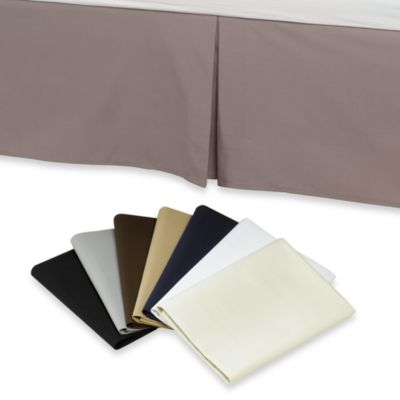 Smoothweave™ 14-Inch Tailored Queen Bed Skirt in Chocolate