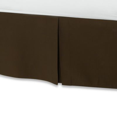Smoothweave™ 14-Inch Tailored Twin Extra Long Bed Skirt in Chocolate