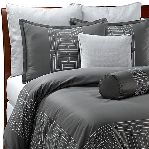 nicole miller argos pewter duvet cover 100 cotton bed. Black Bedroom Furniture Sets. Home Design Ideas
