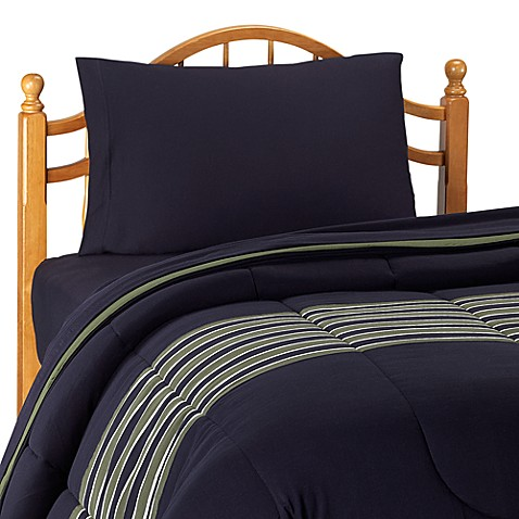 nautica glen cove navy comforter with sheet set twin extra long twin bed bath beyond. Black Bedroom Furniture Sets. Home Design Ideas